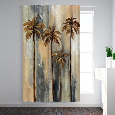 Americanflat Hr Palm Trees Ii by Jenaya Jackson Blackout Rod Pocket Single Curtain Panel 50x84