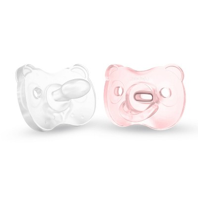 Medela Baby Soft Silicone Pacifier - Pink 0-6 Months 2pk