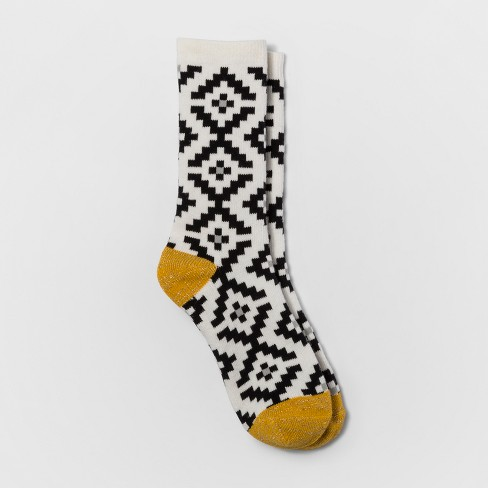 Women's Fair isle Crew Boot Socks - A New Day™ Fair Isle One Size - image 1 of 1