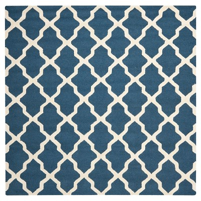 Maison Textured Rug - Navy Blue / Ivory (10' Square)- Safavieh®