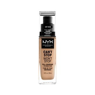 NYX Professional Makeup Cant Stop Wont Stop Full Coverage Foundation Soft Beige - 1.3 fl oz