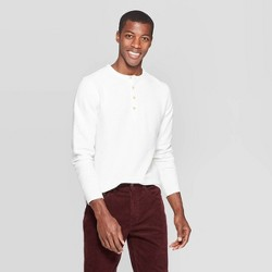 Men's Regular Fit Long Sleeve Textured Henley Shirt - Goodfellow & Co™