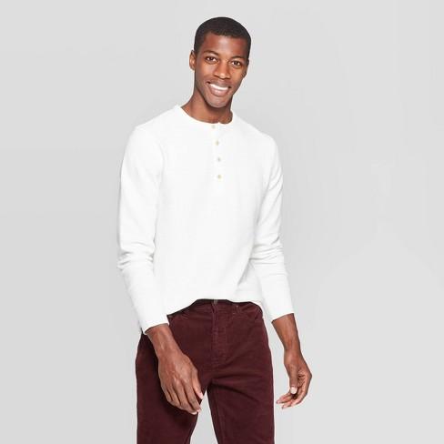 Men's Regular Fit Long Sleeve Textured Henley Shirt - Goodfellow & Co™ - image 1 of 3