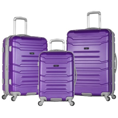 Olympia USA Denmark 3pc Luggage Set - Purple