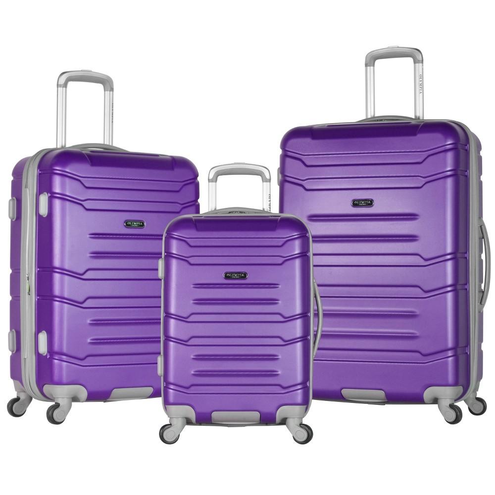 Image of Olympia USA Denmark 3pc Luggage Set - Purple