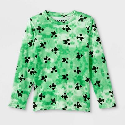 Kids' Minecraft Long Sleeve Graphic T-Shirt - Green