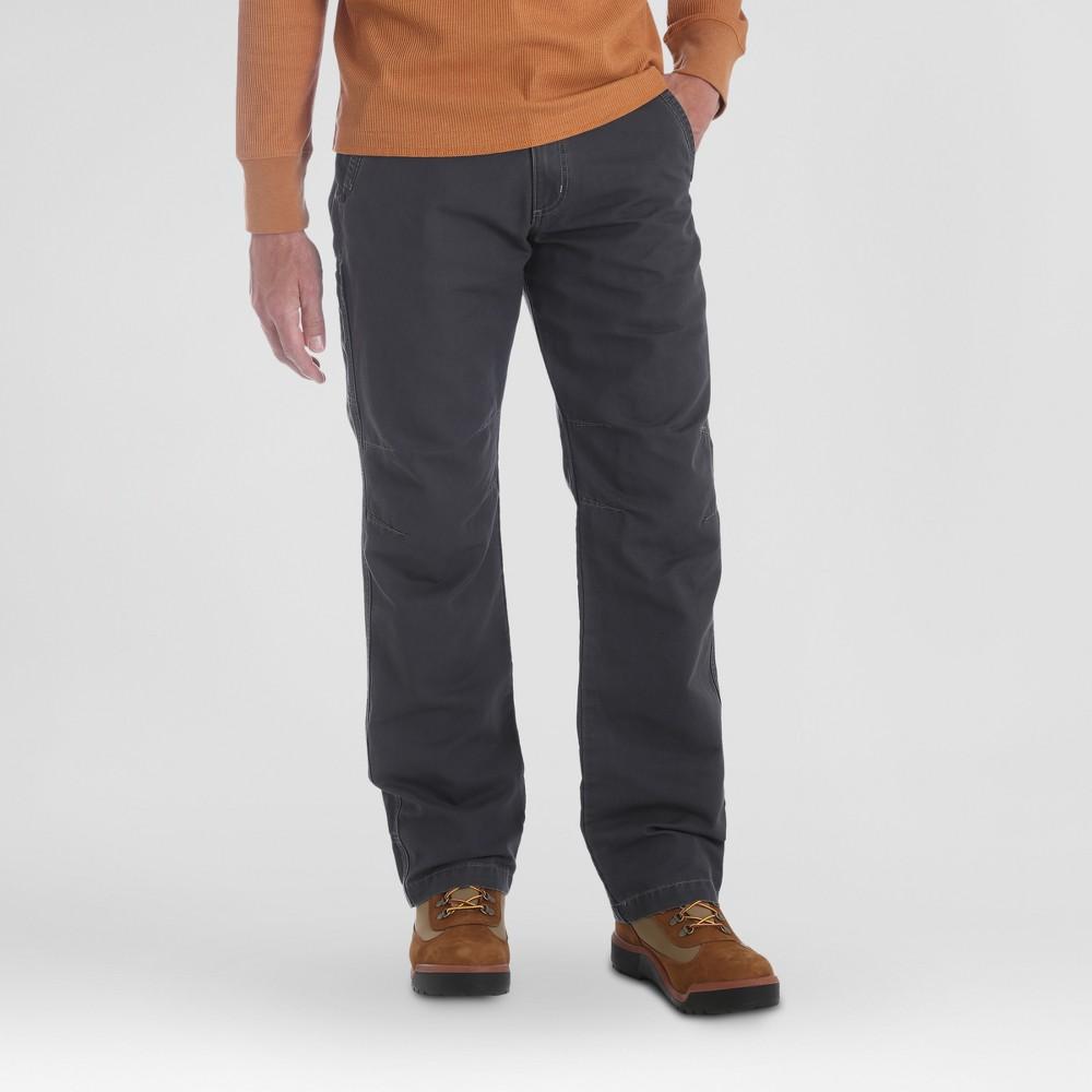 Wrangler Men's Outdoor Coated Cotton Utility Pants - Carbonite 36x30