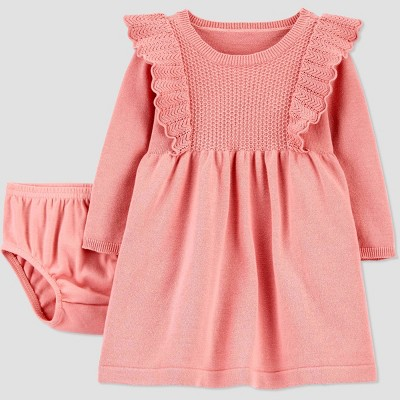 Baby Girls' Sweater Top & Bottom Set - Just One You® made by carter's Pink 3M