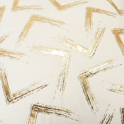 """20""""x20"""" Geometric Polyester Filled Pillow Gold - Rizzy Home : Target"""