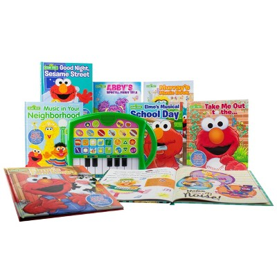 Pi Kids Sesame Street My First Music Fun Keyboard Composer & 8-Book Library Boxed Set