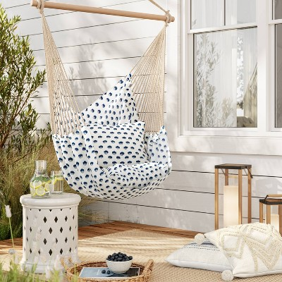 Pillowtop Hammock Chair with Spreader Bar Feather Dot - Threshold™