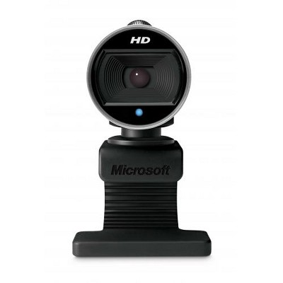 Microsoft LifeCam Webcam - 720p HD Video Chat and Recording - Wide-Angle Lens - TrueColor Technology with Face Tracking - CMOS Sensor