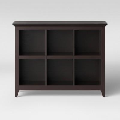 """37.2"""" Carson 6 Bin Organizer Bookcase Espresso - Threshold™"""