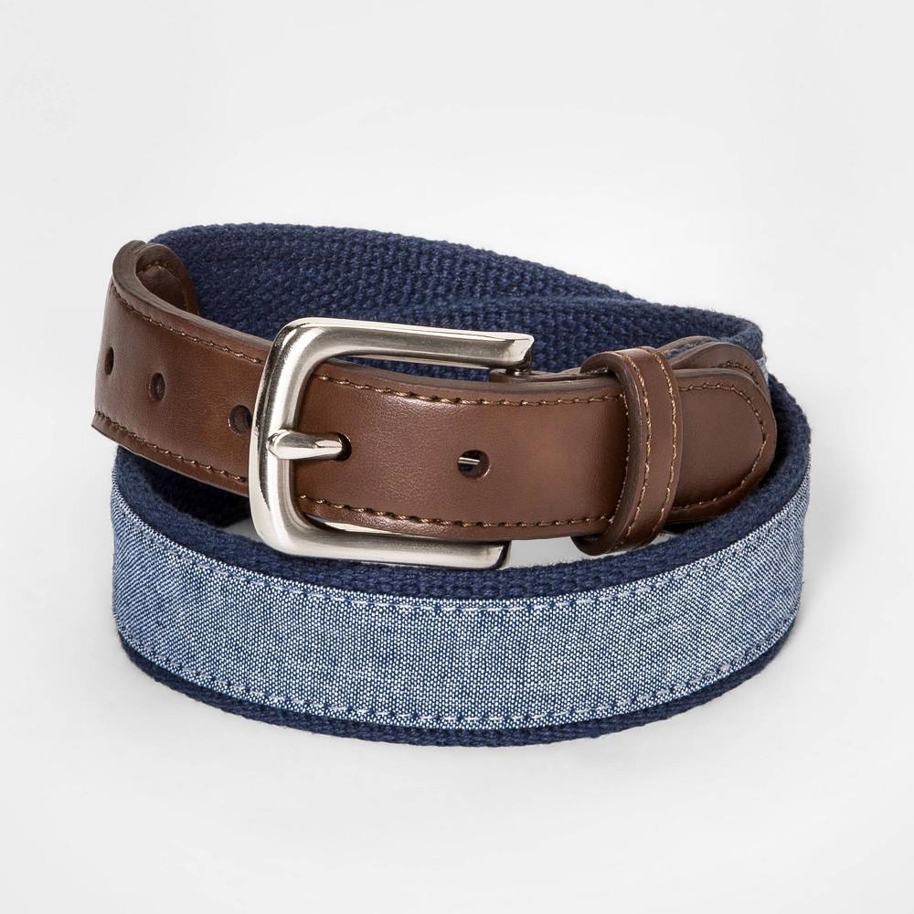 Image of Boys' Chambray Belt - Cat & Jack Blue L, Boy's, Size: Large