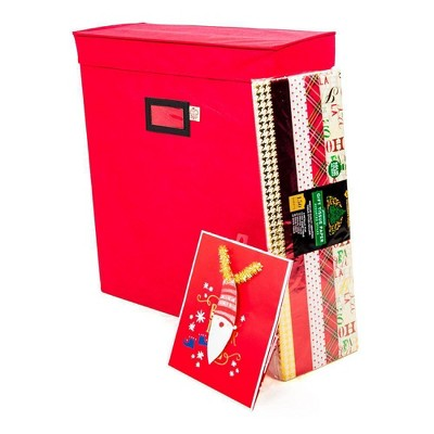 TreeKeeper Gift Bag and Tissue Paper Storage Box Red
