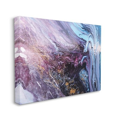 Stupell Industries Abstract Liquid Purple Blue Texture Painting