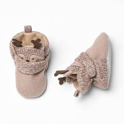 Baby Reindeer Bootie Slipper - Cat & Jack™ Brown 0-3M