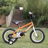 Joystar Pluto 14 Inch Kids Toddler Bike Bicycle with Training Wheels, Rubber Tires, and Coaster Brake, Ages 3 to 5, Orange - image 4 of 4