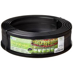 Suncast 5 Eco Edge 20 Foot Plastic Coiled Edging Roll with 2 Connectors, 5 inch