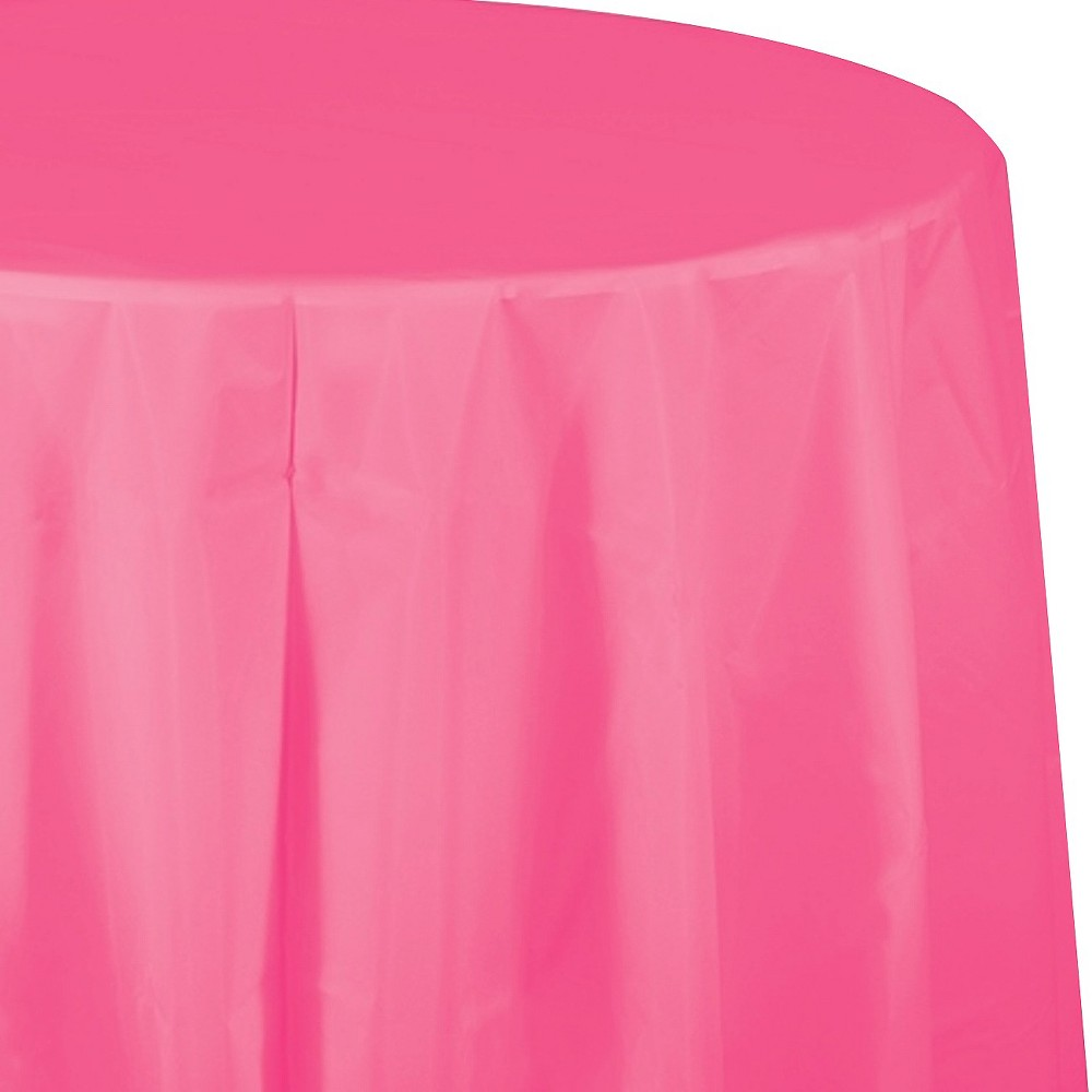 Candy Pink Disposable Tablecloth