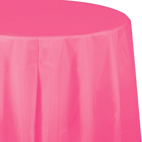 Candy Pink Disposable Tablecloth Target
