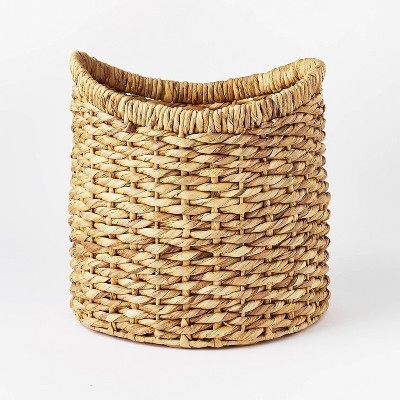 """16.5"""" x 16"""" Chunky Round Woven Basket Natural - Threshold™ designed with Studio McGee"""