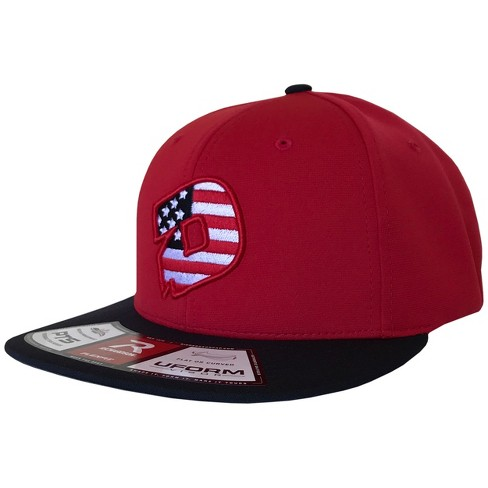DeMarini D Logo USA Flat-Bill Baseball/Softball Flexfit Hat