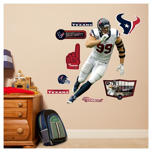 NFL Houston Texans J.J. Watt Fathead Wall Decal Set - image 1 of 1
