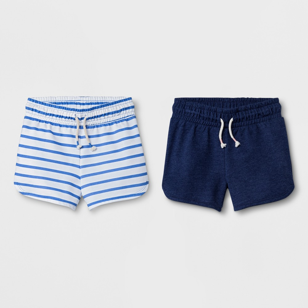 Girls' Pull-on Shorts - Cat & Jack Blue XL