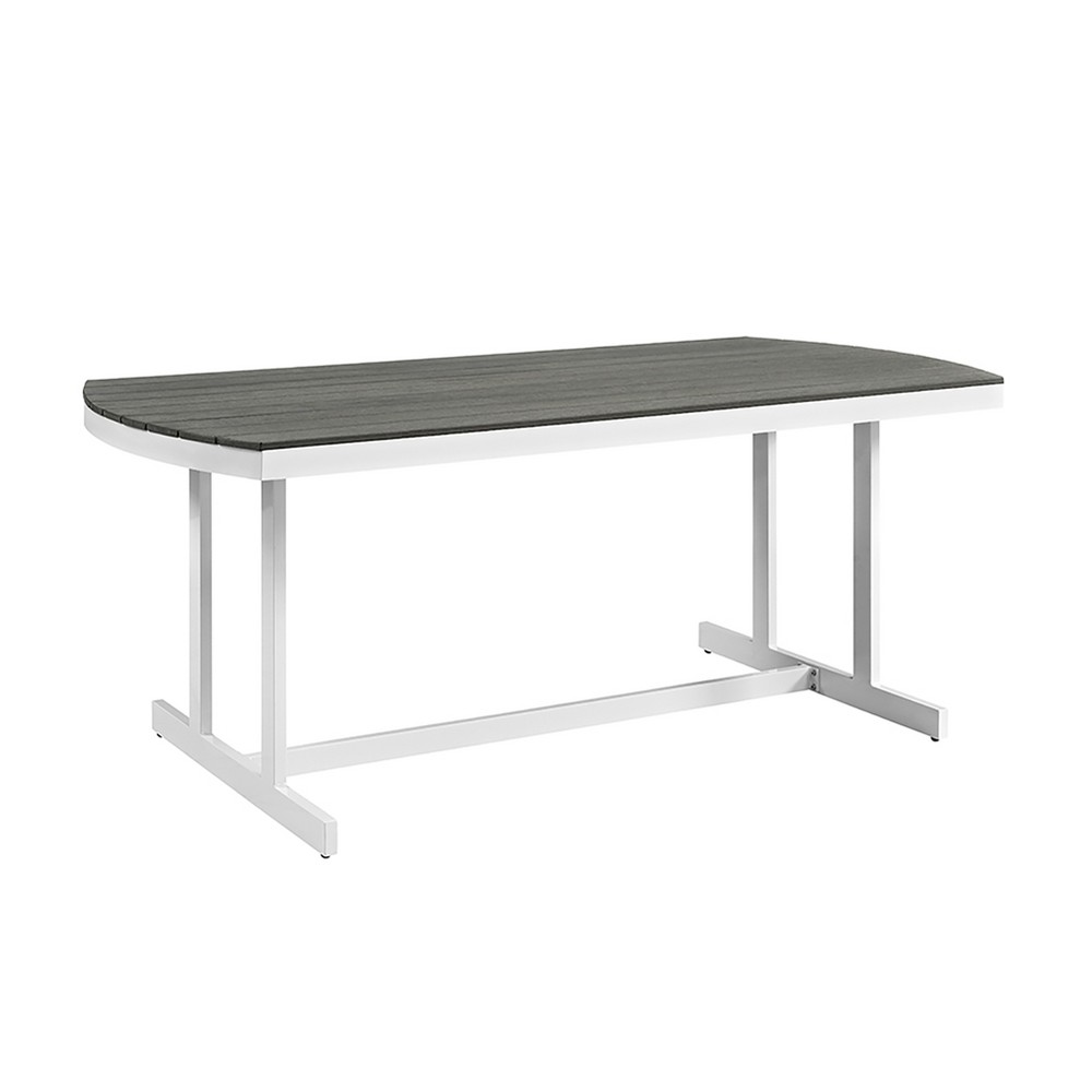 Coastal Outdoor Dining Table Gray/White - Saracina Home