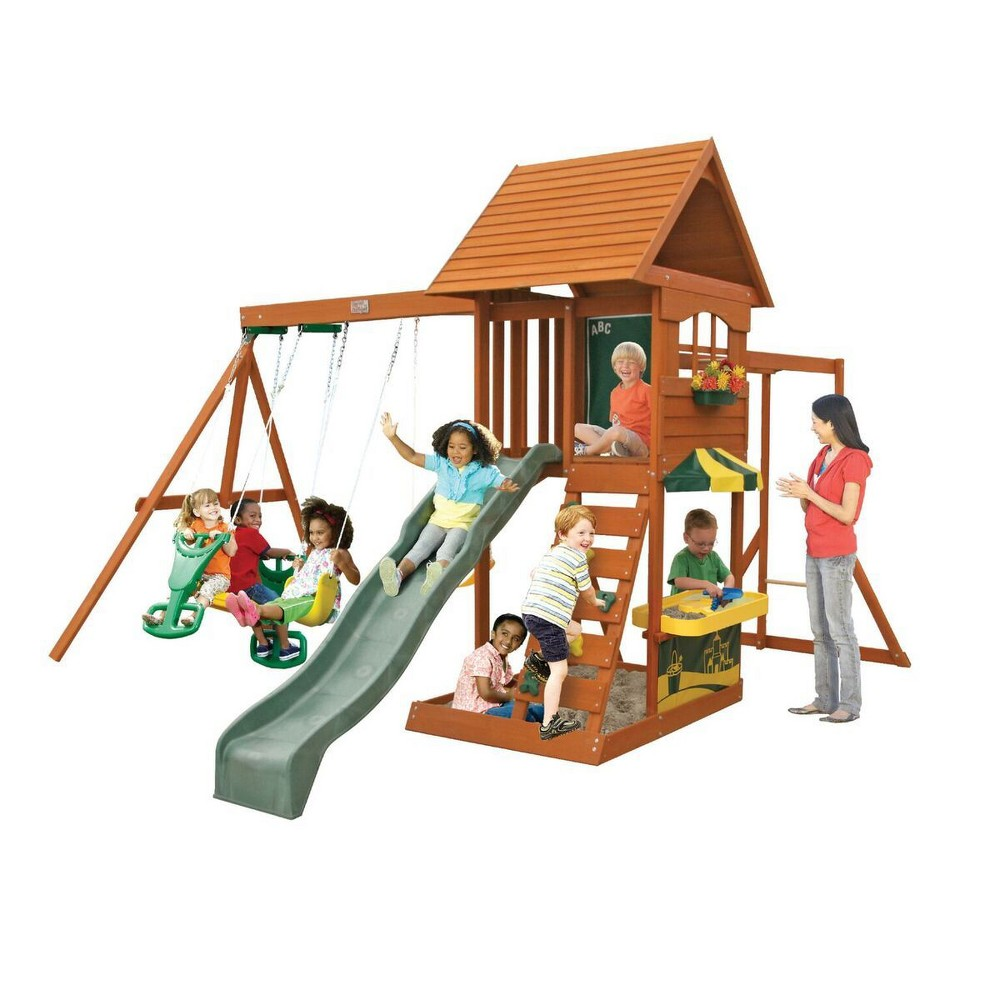 KidKraft Sandy Cove Wooden Swing Set/Playset, Multi-Colored