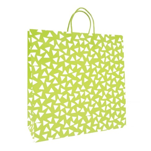 Green Triangle Printed Large Square Bag - Spritz™ - image 1 of 1