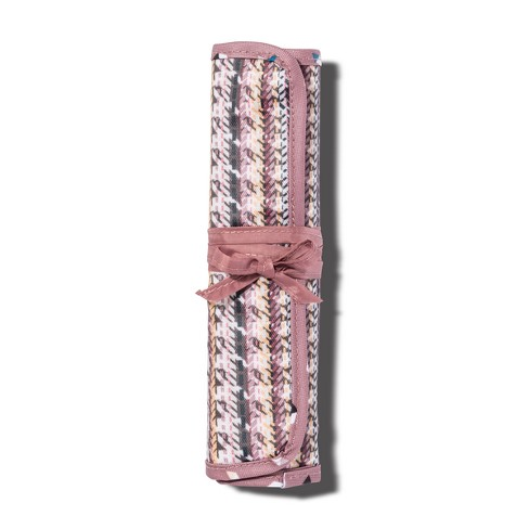55f99e74e386 Sonia Kashuk™ Cosmetic Bag Brush Roll Broken Houndstooth   Target