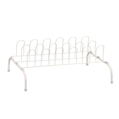 Household Essentials 9 Pair Wire Shoe Rack White