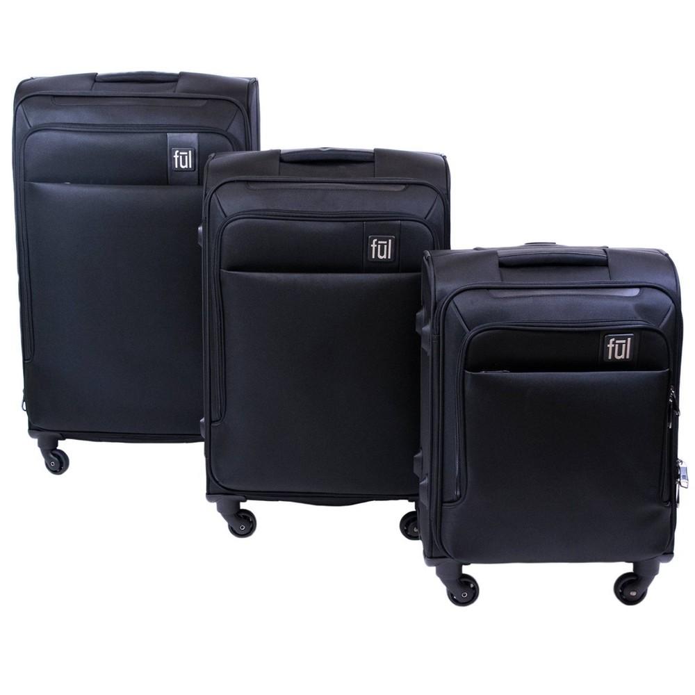 Ful 3pc Flemington Softside Luggage Set - Black