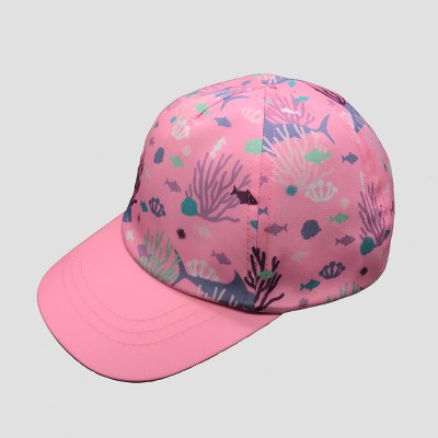 Baby Girls' Under the Sea Baseball Hat - Cat & Jack™ Pink 12-24M
