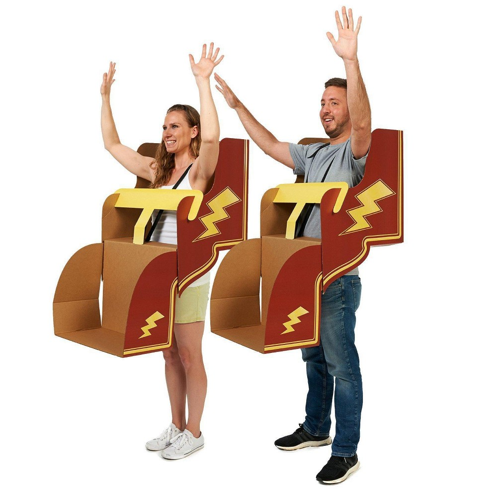 Adult Roller Coaster Diy 4pk Cardboard Group Costume Kit, Adult Unisex, Multi-Colored