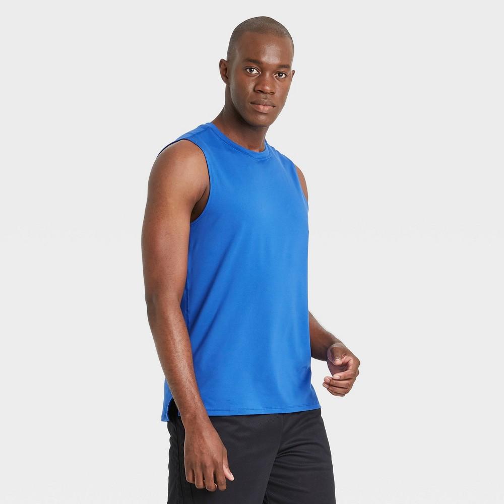 Men 39 S Big 38 Tall Sleeveless Performance T Shirt All In Motion 8482 Blue Xxxl