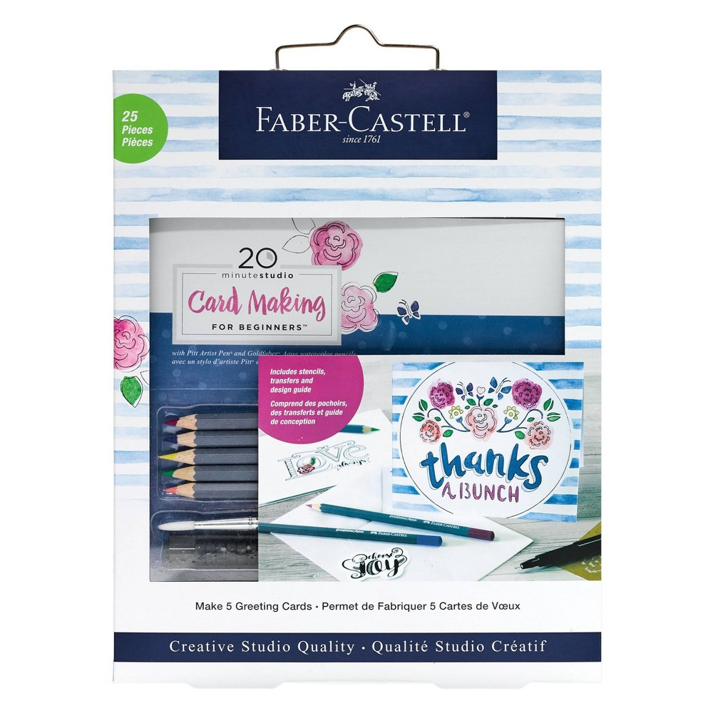 Image of 25pc 20 Minute Studio Card Making for Beginners - Faber-Castell