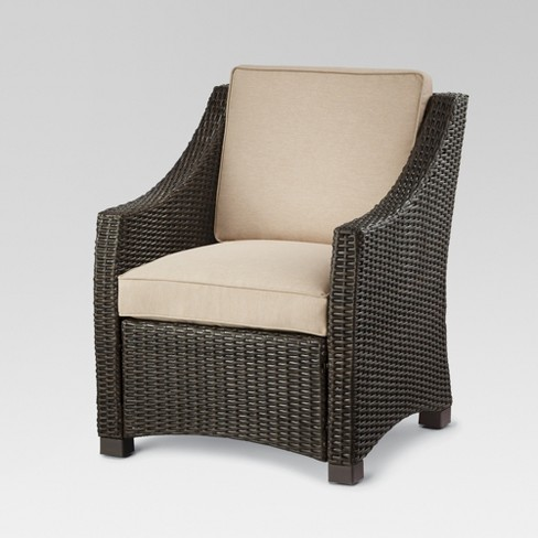 Terrific Belvedere Wicker Patio Club Chair Threshold Download Free Architecture Designs Intelgarnamadebymaigaardcom