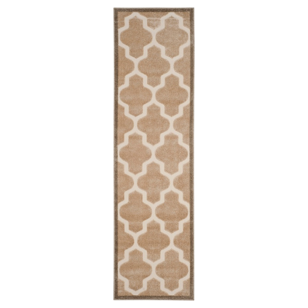Light Beige/Cream Geometric Loomed Runner - (2'3X8' Runner) - Safavieh