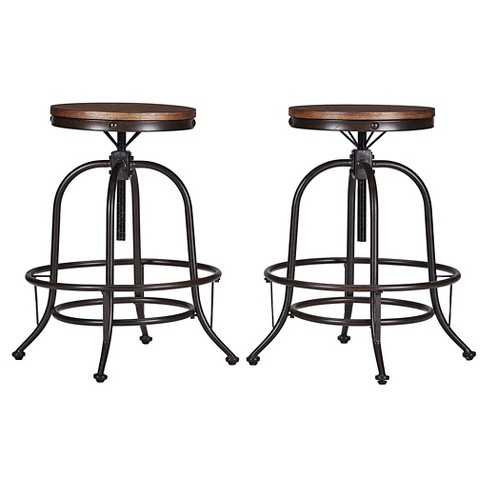 Mason Adjustable Swivel Barstool (Set of 2) - Inspire Q - image 1 of 2