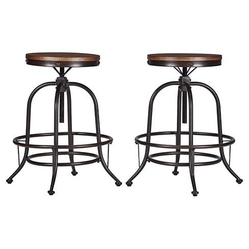 Outstanding Mason Adjustable Swivel Barstool Set Of 2 Inspire Q Uwap Interior Chair Design Uwaporg
