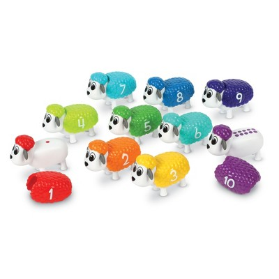 Learning Resources Snap-n-Learn Counting Sheep, Fine Motor, Counting & Sorting Toy, Easter Basket Toy, Ages 18 mos+