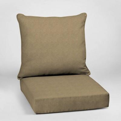 Hamilton Texture Deep Seat Outdoor Cushion Set Tan - Arden Selections