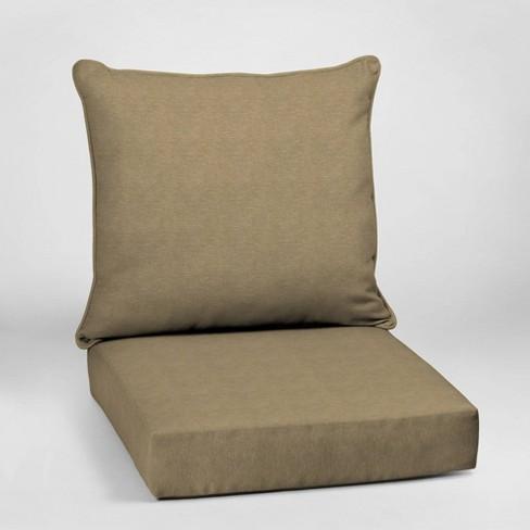 Hamilton Texture Deep Seat Outdoor Cushion Set Tan - Arden Selections - image 1 of 2