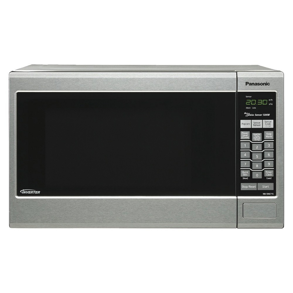 Panasonic Silver 1.2 Cu. Ft. 1200 Watt Microwave Oven - Stainless Steel Panasonic Inverter Technology perfects the art of cooking with microwave ovens, delivering delicious flavor, excellent color, superb shape and texture in the foods you cook. The consistent delivery of microwave energy means delicate foods can simmer without the edges and surfaces overcooking. Foods have the look and taste you expect - without the wait! Size: 1.2CF. Color: Silver.