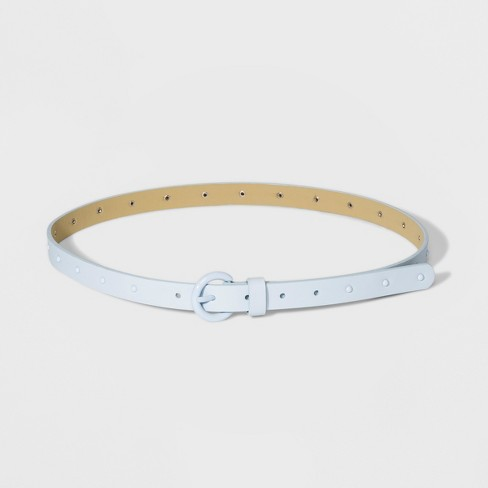 Women's Stud Ring Belt - A New Day™ Blue - image 1 of 2