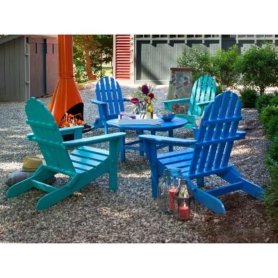 POLYWOOD® 5 Piece Adirondack Conversation Furniture Set : Target