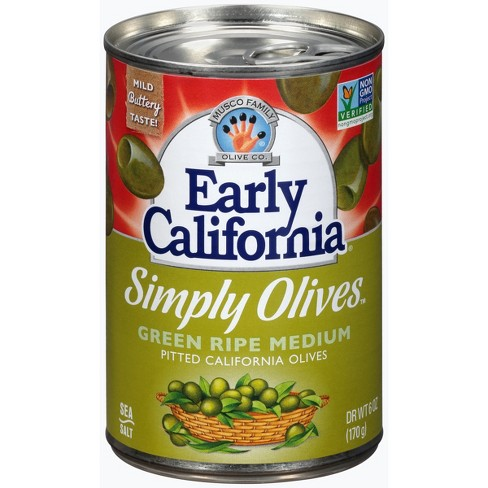 Early California Fresh Cured Green Ripe Medium Olives - 6oz - image 1 of 1